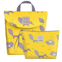 $enCountryForm.capitalKeyWord Australia - Multifunctional Baby Diaper Wet dry Bag Organizer Reusable Cotton Fashion Prints Mummy Stroller Storage Bag Travel Nappy Bag