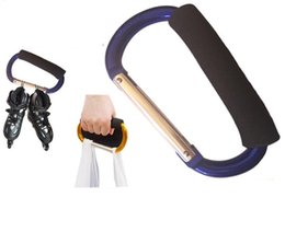 Hand Hooked Bag Australia - high quality aluminum carabiner buckles with eva sponge wholesale clip lock hooks outdoor shopping hand bags carry buckle keyring