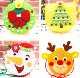 creativity bag Canada - christmas cartoon bag cute handmade toy non-woven material crafts decoration children early education gift DIY package