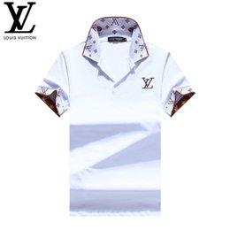 $enCountryForm.capitalKeyWord Australia - Designer Polo Shirts for Mens Summer Short Sleeve Polos New Brand Lapel Tops Men Luxury Fashion Print Letters Tshirts High Quality