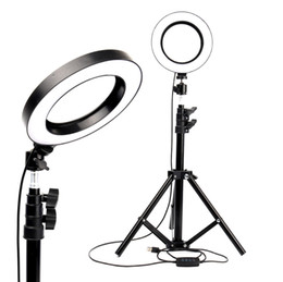 Video led light ring online shopping - LED Ring Light Photo Studio Camera Light Photography Dimmable Video light for Youtube Makeup Selfie with Tripod Phone Holder