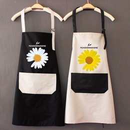 korean aprons Canada - Fashionable Korean apron waterproof and oil proof cute Japanese female household
