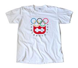 $enCountryForm.capitalKeyWord Australia - Vintage 1964 Innsbruck Olympics Decal T-Shirt - Snow Skiing, Skating, Hockey 100% Cotton Short Sleeve T-Shirt New Top Tees cheap wholesale