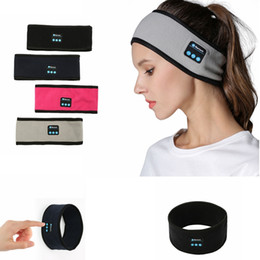 Gym headbands online shopping - Wireless Bluetooth Headband Music hairband knit Headscarf Stereo Music Handsfree Smart Sport Yoga Gym headbands Party Favor GGA1474