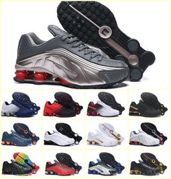 Shox Sport ShoeS online shopping - New Design SHOX R4 Men Sports Shoes Triple Black White Cheap Chaussures Shox DELIVER OZ NZ Air Sneakers Trainers Zapatillas