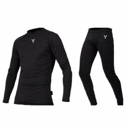 motorcycle men tights UK - Car Racing Motorcycle Thermal Underwear Set Men's Motorbike Skiing Winter Warm Base Layers Tight Long Johns Tops & Pants Set
