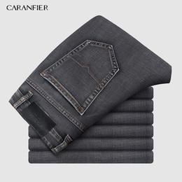 $enCountryForm.capitalKeyWord Australia - Mens Clothing Harlan Jeans 2019 Autumn New Big Pocket gray Elastic Loose Denim Cargo Trousers Brand Plus Size 40 42 44
