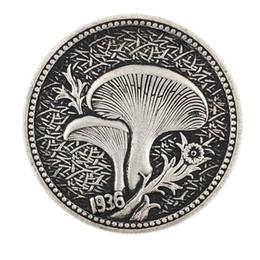 1936 Coins Australia - Hobo Creative Coin 1936 The mushroom commemorative coin silver coin imitation set decoration handicraft factory wholesale