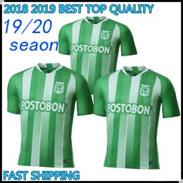 19 20 thailand quality Atletico Nacional Medellin Soccer Jersey Colombia  Club Medellin Home Green Football Sports Uniform Football Shirt f9232ba59