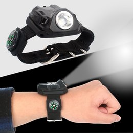 Cold watChes online shopping - Outdoors Camp LED Wrist Light Night Fishing Running Bicycle Riding Flashlights Multi Function Fashion Creative Watch Lamps Hot Sale gtI1
