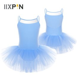 $enCountryForm.capitalKeyWord Australia - IIXPIN ballet tutu Dress Girls Sleeveless Tulle Ballet Dancer Leotard Dress ballerina kids toddler leotard Dancewear Kids
