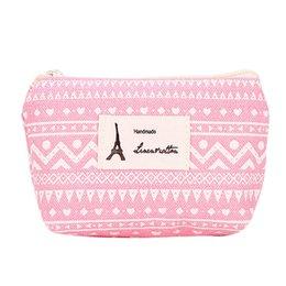 Discount passport wallet zipper change short - New Fashion Women Fresh Canvas Portable Pencil Case Change Pouch Key Holder Wallet Bag Girl Casual Coin Card Money Purse