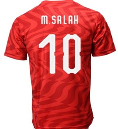 Soccer ShirtS diScount online shopping - Discount Egypt Customized Home RED M SALAH Thai Quality Soccer Jersey shirts TOPS Popular personality Custom Soccer Wear