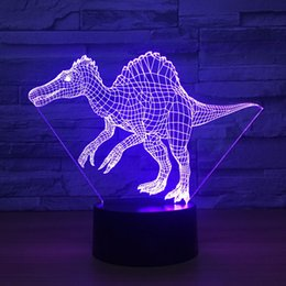 Lights & Lighting Cheap Price Dinosaur Novelty Lampada Animal 3d Lamp Led Colorful Atmosphere Touch Sensor Night Light Acrylic Engraving Figure Creative Gifs New Varieties Are Introduced One After Another