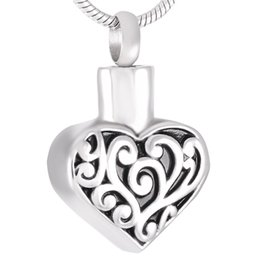 jewelry personalized necklaces Canada - IJD9311 Stainless Steel Pattern Heart for Ashes Urn Pendant Necklace Personalized Engraving Memorial Cremation with Chain Jewelry