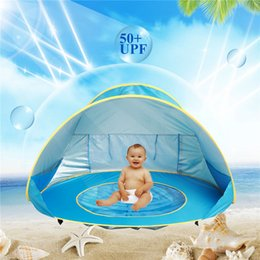 Pink Shades Australia - Baby Beach Tent blue pink orange 3 colors Portable Shade Pool Outdoor Sun Protection Pool Sun Shelter for Infant