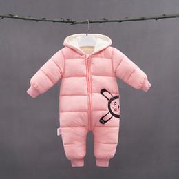 3593e198cb1 infant baby girls romper 2019 winter thick long sleeve jumpsuit for newborn  boys clothing toddle cotton fleece velvet hoodies
