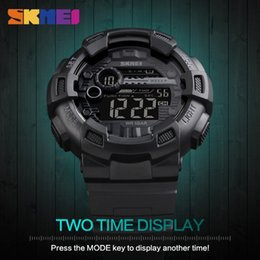 lighting calendar Australia - Reloj Deportivo Clock Men Watches Sports Waterproof Back Light LED Digital Watch Chronograph Shock Double Time Wristwatches