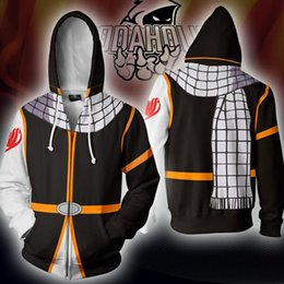 fairy tail prints Australia - BIANYILONG 2019 Autumn Winter 3D Printed Fairy Tail Costume Cosplay Zip Up HoodieJacket clothing