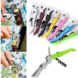Kitchen Screws Australia - Cheapest Cork screw Wine Bottle Openers Multi Colors Double Reach Wine Stainless Steel Beer Bottle Openers Home Kitchen Tools