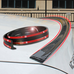 Car Refitting Australia - Universal spoiler 1.5M Car-Styling 5D carbon rubber tail spoiler PU carbon brazing DIY refit spoiler suitable by all type of car