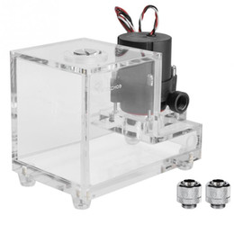 H Case Australia - Good Quality Full Transparent Integrated 600ML PC Cooled Water Pump Acrylic Water Cooling 600L H New