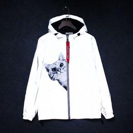 $enCountryForm.capitalKeyWord Australia - New full reflective jacket men   women harajuku windbreaker jackets hooded hip-hop streetwear night shiny zipper coats jacke