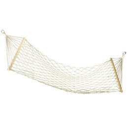 Chinese  Outdoors Camping Single Person Hammock Thickening Reticular Cotton Rope Wood Stick Adult Swing Popular Portable Solid Hot Sale 23mxI1 manufacturers