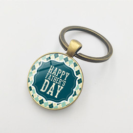 $enCountryForm.capitalKeyWord Australia - Foreign Trade Hot Creative Father's Day Gift BESTDAD Time Gem Metal Keychain Professional Wholesale Glass Alloy Pendant Keychain