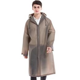 Nylon Coating Australia - Long Raincoat Men Waterproof Poncho Outdoor Women Rainwear Nylon Plus Size Woman Coats Casaco Vinyl Raincoats Hooded 50CW210 #319610