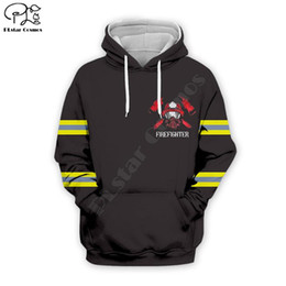 Wholesale hip hop art resale online - PLstar Cosmos USA Firefighter art Fashion Tracksuit hip hop zip hoodies D Printed Hoodie Sweatshirt Jacket Mens for Womens