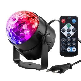 music activated laser light UK - Edison2011 7 Colors Dj Disco Ball Lumiere 3w Sound Activated Laser Projector Rgb Stage Lighting Effect Lamp Light Music Christmas Ktv Party