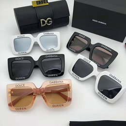 luxury picture frames Australia - Fashion Brand Large frame driving glasses luxury women's wear brand designer square summer full picture frame quality anti uv with box or no