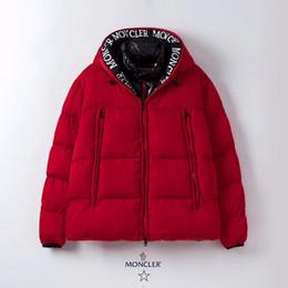 Опт 2019 реальный Волк мех мужской дизайн зимняя куртка гусиный пух куртка бомбардировщик куртка пуховик пальто теплое пальто Jaqueta красный черный ярлык