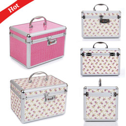 Cosmetic Bags Locks Australia - Hot Password Lock Multifunction Professional Makeup Cosmetic Bags Case Organizer