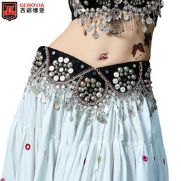 $enCountryForm.capitalKeyWord Australia - Belly Dance Costume Handmade Belt Tribal Bellydance Clothes Gypsy Coins Belts Hip Scarf Bellydance Belt