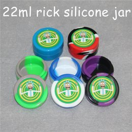 $enCountryForm.capitalKeyWord Australia - Rick design wax containers silicone box 22ml silicone container food grade jars dab tool storage jar oil holder for vaporizer glass pipe