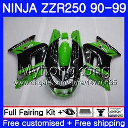 1993 kawasaki fairing online shopping - Bodywork For KAWASAKI NINJA ZZR ZZR250 HM Stock green top ZZR250R ZZR Fairings