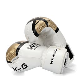 muay thai leather gloves 2019 - High Quality Adults Women men Boxing Gloves Leather Mma Muay Thai Boxe De Luva Mitts Sanda Equipments8 10 12 6oz Boks