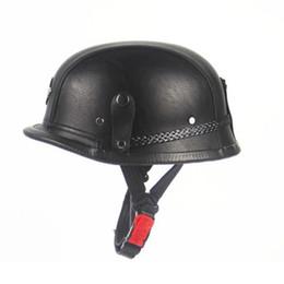 Discount half helmets motorcycle vintage - Motorcycle Helmets Motorcycle Motorbike Adult Vintage Open Face Half Leather Helmet Moto