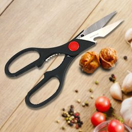 Kitchen Scissors Chicken Australia - Kitchen Scissors Multifunction Stainless Steel Chicken Poultry Fish Scaler Shears Nut Pliers Bottles Openers Vegetables Shears VT1466