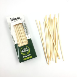 plastic alternatives NZ - Wheat Drinking Straws,Natural Drinking Straws,BPA Free Disposable Drinking Straws Alternative to Plastic Biodegradable 100 Count