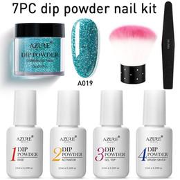 $enCountryForm.capitalKeyWord Australia - 7Pcs Set Dipping System Nail Kit Nail Dip Powder With Dip Base Activator Liquid Gel Nail Color Natural Dry Powders