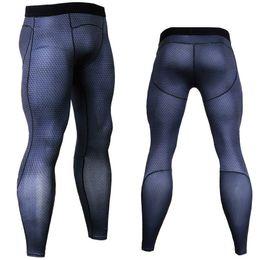 Tight Black Leggings Australia - 3d Crossfit Long Pants Compression Tights Men Joggers Fitness Skinny Leggings Quick Dry Pants Gyms Slim Fit Black Trousers Mma