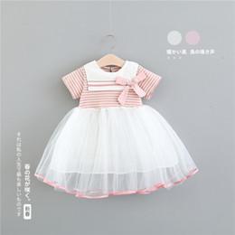 095e4dadd98 Wholesalers For Baby Boutique Clothing Australia - Little Girls Stripe Bow  Tutu Princess Dresses Summer 2019
