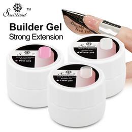 $enCountryForm.capitalKeyWord Australia - Saviland 3pcs UV Builder Gel Pink Clear White 3 Color Options Nail Art Tips Manicure Extension Permanent Strong Polish