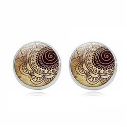 $enCountryForm.capitalKeyWord UK - 2019 cross-border beautiful earrings Mandala flower time gemstone earrings Europe and America retro silver earrings jewelry custom wholesale