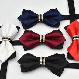 Male Fashion Suits Australia - 2019 Polyester Bowtie Men's Wedding Floral Bow Tie Groomsman Suit Accessories Male Dress Cravat Christmas Party Bowtie
