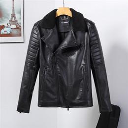 Black rivet jackets men online shopping - 2019ss New Fashion Mens Designer skull Jackets Thick Warm High Quality Jackets Slim Casual Streetwear Vintage Mens Coat Size M XL