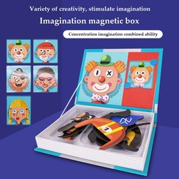 Wholesale Children 3-6 years old puzzle magnet early education toy puzzle 3 D change the 100 change magnet puzzle board science and education toy
